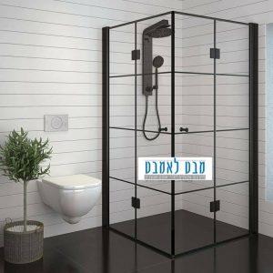 מקלחון הרמוניקה שחור